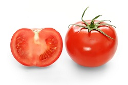 Bright red tomato and cross section02